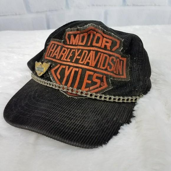 722ed085f VINTAGE MENS HARLEY DAVIDSON BIKER HAT